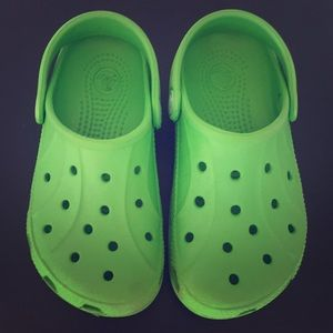 Green Crocs size 10 C 11